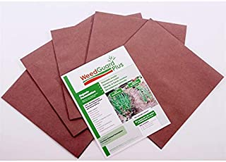 """WeedguardPlus Organic Biodegradable Mulch (25) Paper Squares 12"""" x 12"""" – Allows Water, air, and nutrients Through to The Soil."""