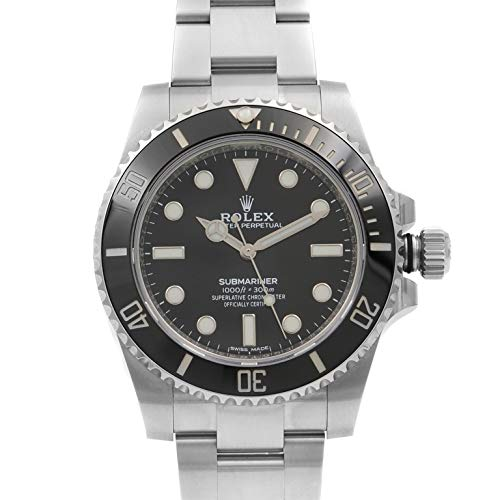 Rolex Oyster Perpetual 40MM Stainless Steel Submariner with a Rotable Black Cerachrom time Lapse Bezel and a Black Index Dial.