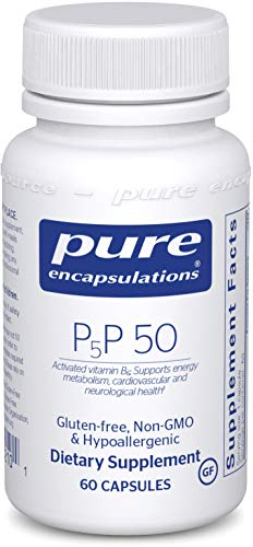 Pure Encapsulations - P5P 50 - Activated Vitamin B6 to Support Metabolism of Carbohydrates, Fats, and Proteins - 60 Capsules
