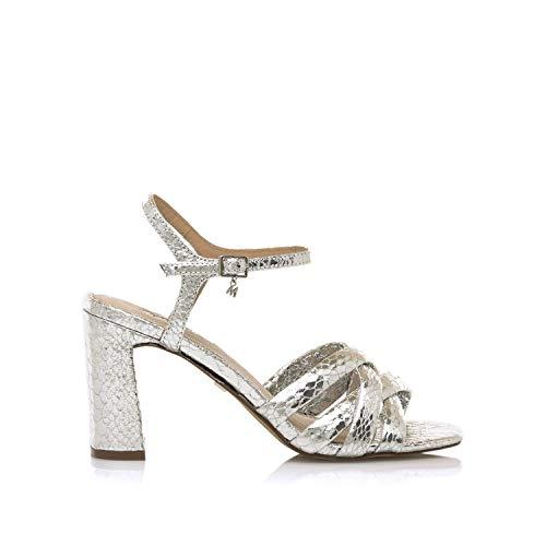 Sandalias Mujer MARIAMARE | Sandalias 68177 | MARIAMARE Mujer | Sandalias Zapato de tacón | Cierre con Hebilla | 49394 | Plata | 41