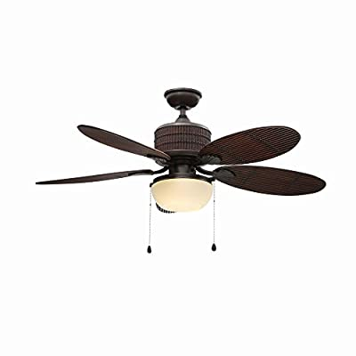 Home Decorators Indoor/Outdoor Tahiti Breeze 52-Inch Ceiling Fan, Natural Iron