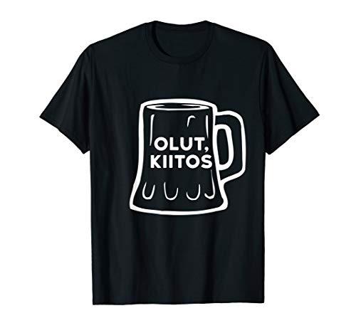 Olut Kiitos Bier Bitte Lustig Finnisch Tourist Phrase T-Shirt