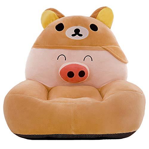 CTEJ Children's foldable sofa children's plush sponge armrest sofa bed toy lazy sofa seat children's chair,A,50CM