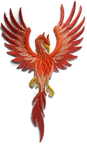 Custom Phoenix Embroidery Iron On/Sew patch [5.94 * 9.99][Made in USA] by BeyondVision
