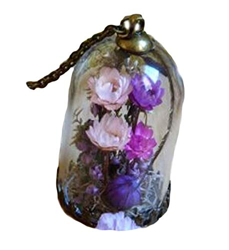 Die violett Vale. Botanischer Garten. Bronze Halskette.