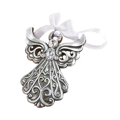 Fashioncraft Antique Finish Shimmering Angel Ornament - 1