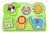 Fisher-Price Jungle Animal Puzzle - Juegos educativos (Multicolor, Child, Niño/niña, 1 año(s)) , color, modelo surtido