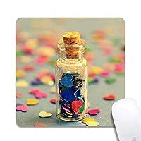 天然ゴムマウスパッドレトロな愛の願いボトル絵画ノンスリップゴムマウスパッドゲーミングマウスマット