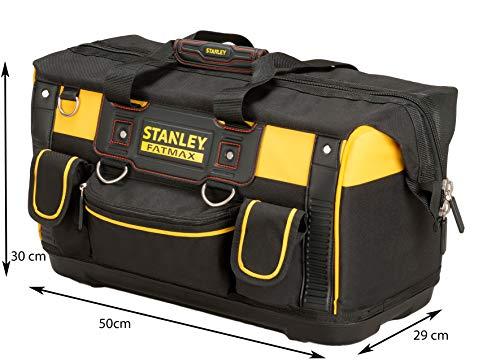 Stanley FatMax Werkzeugtasche / Transporttasche (50x30x29cm, schlagfester Boden, Aufbewahrungstaschen im Inneren, große Öffnung für leichten Zugang, aus robustem Material) FMST1-71180 - 6