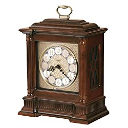 Howard Miller Akron Mantel Clock 635-125 – Windsor Cherry Finish, Nickel-Finished Decorative Dial, Antique Home Decor, Volume Control, Quartz, Dual-Chime Movement