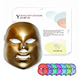 YOURFUN Pro LED Mask Photon Skin 7 Color Light Therapy For Skin Rejuvenation Collagen Tighten and Lift Skin Anti Aging Wrinkles Whitening Daily Facial Skin Care Mask
