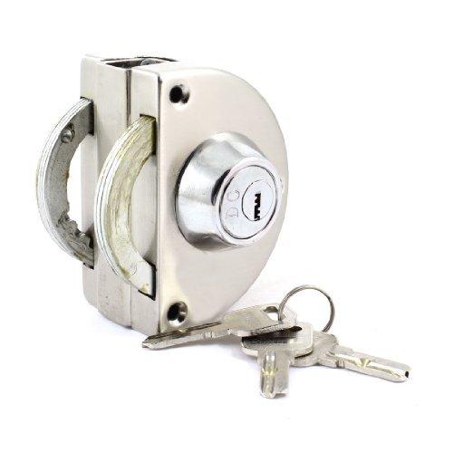 Home Office Dubbele Zijkant 13mm Enkele glazen deur veiligheidsslot Zilver Tone w 3 sleutels