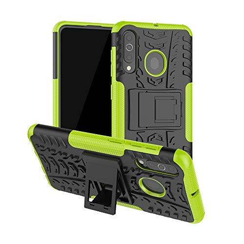 YUNCHAO Funda Protectora Funda Protectora a Prueba de choques del Modelo de neumático de PC TPU For Galaxy A60, con Soporte Caja del teléfono Celular (Color : Green)