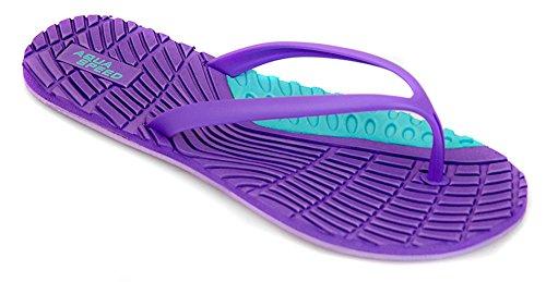 Aqua Speed® Bahama Chanclas (36-41 Mujer Playa), Colore:Farbe 09 / Violet-Türkis;Badelatschen grösse:37