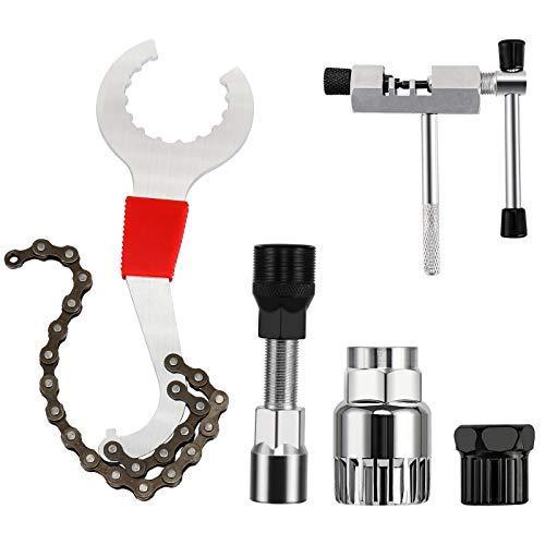 Jooheli fahrradwerkzeugset,6-in-1 Fahrrad Reparatur Werkzeug, Fahrradkette Werkzeug, Bike Tool Set, kettennieter Fahrrad,Fahrrad Reparatur Set, Kettenpeitsche, Tretlager Kurbelabzieher
