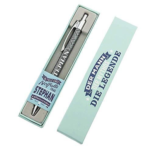 History & Heraldry Top Kuli Kerl & Lady - Stephan - individueller und personalisierter Kugelschreiber mit Name und Spruch