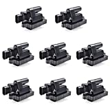 FAERSI Ignition Coil Pack of 8 Replacement for Cadillac Escalade, Chevy Silverado, Avalanche, Express 3500, Suburban, Tahoe, GMC Sierra, Savana, Yukon - 4.8L 5.3L 6.0L 6.6L 8.1L UF271 D581 12558693