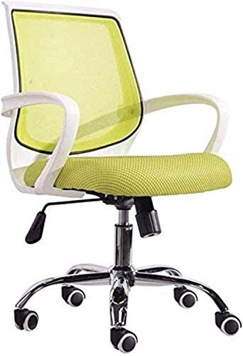 Schreibtisch Leder Gaming Bürostuhl Bürostuhl Computer Schreibtischstuhl Swivel Office Task Stuhl mit Waffen Sessel (Color : Green, Size : 54 * 30 * 57cm)