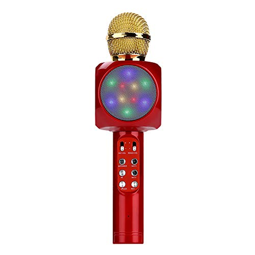 ELK Bluetooth Karaoke Microphone, Handheld Wireless Karaoke Player Compatible with Iphone Android Smartphone for Home KTV/Outdoor Party/Music Playing/Kids Singing,A