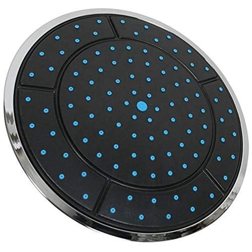 Ducha de alta presión Forma plástico redondo de 25 cm de lluvia Powered Ducha ducha superior del techo cabeza de la boquilla Accesorios cabina Ajustable de mano