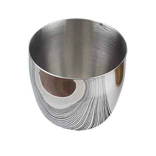 LQKYWNA Taza de café de Acero Inoxidable, una Capa Copa de Agua cepillada Copa de Vino Bebida fría Copa de Jugo Vino Taza de café de Viaje Reutilizable Plata