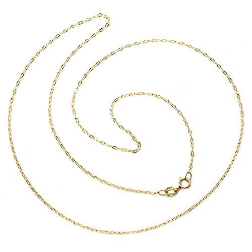 Cadena oro 18k maciza tallada largo 50 cm. unisex ancho 1 mm. peso 1.10 grs. [9449]