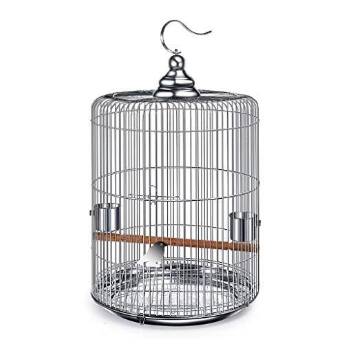 ZYLBDNB Voliera per pappagalli Pet Supplies Uccello in Acciaio Inox per Uccelli all'aperto Villa Rotonda voliera per Uccelli (Dimensione : 44cm High)