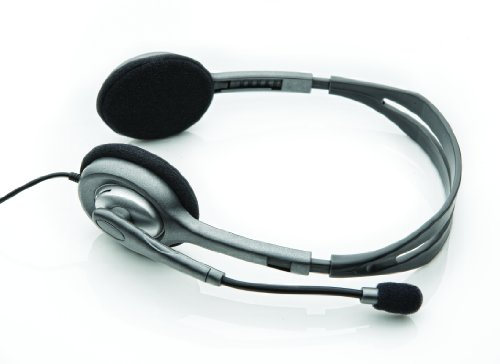 Logitech H110 Auriculares con Cable, Sonido Estéreo con Micrófono Giratorio, Dos...