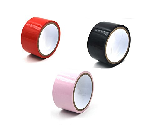 3 Pieces Rolls Black Red Pink Electrostatic Tapes No Glue Self Adhesive 2'' Width 50' Long (A)