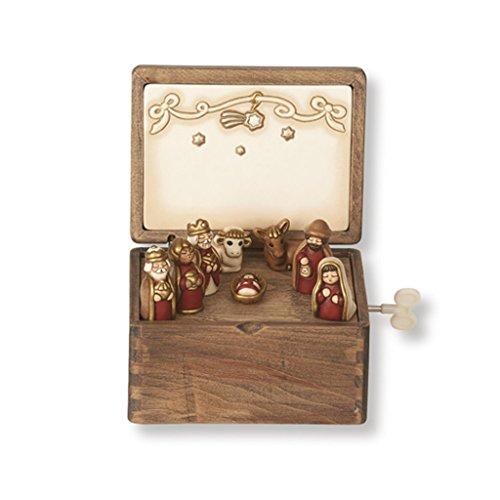 THUN Mini Presepe con Musica, Ceramica, Variopinto