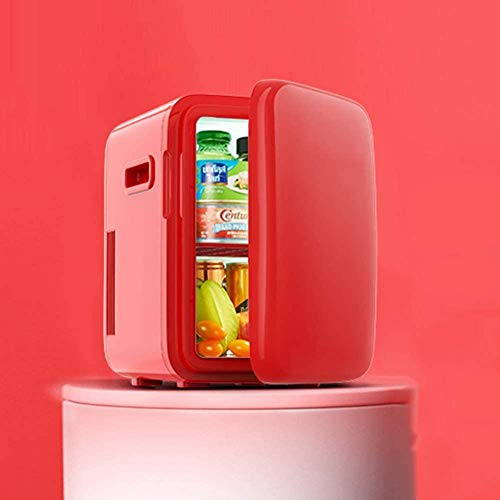 Mini refrigerador cosmético Refrigerador portátil A Prueba de Polvo Frescura Diseño silencioso Organice rápidamente su Escritorio para cosméticos Máscaras faciales 10L Verde-Rojo