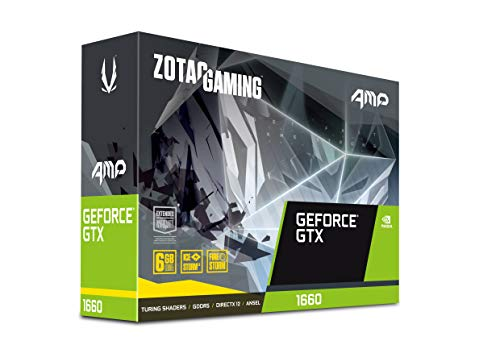 ZOTAC Gaming GeForce GTX 1660 AMP 6GB GDDR5 192-bit Gaming Graphics Card, Super Compact, IceStorm 2.0 Cooling, Wraparound Metal Backplate - ZT-T16600D-10M