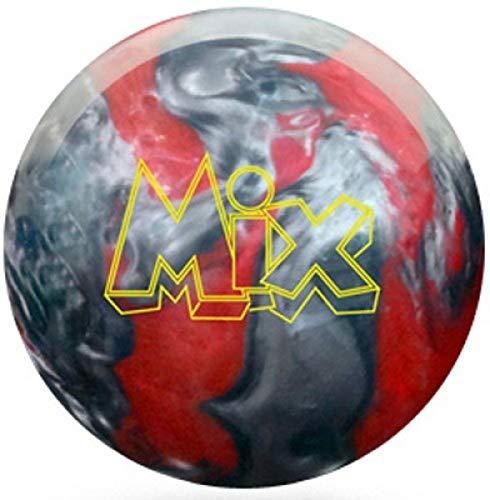 Storm Mix Bowling Ball Polyester Bowlingkugel für Einteiger und Profis Gewichten (Rot/Silber, 15 LBS)