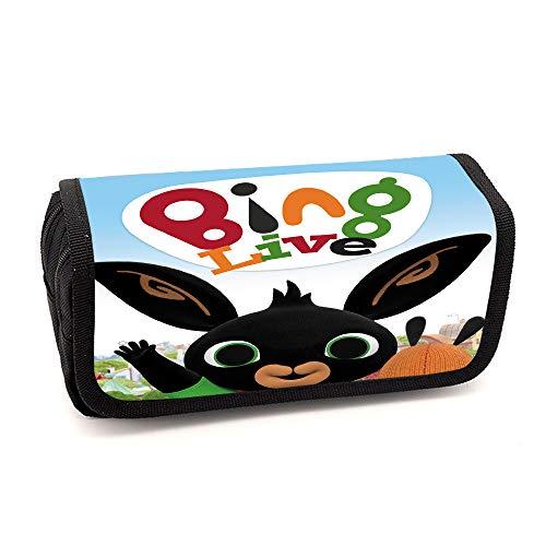 Bing Bunny Federmäppchen Breathable-Speicher-Beutel gedruckte beiläufige Bleistift-Beutel-große Kapazitäts-Mäppchen for Jungen und Mädchen Unisex (Color : A02, Size : 20 X 10 X 7cm)