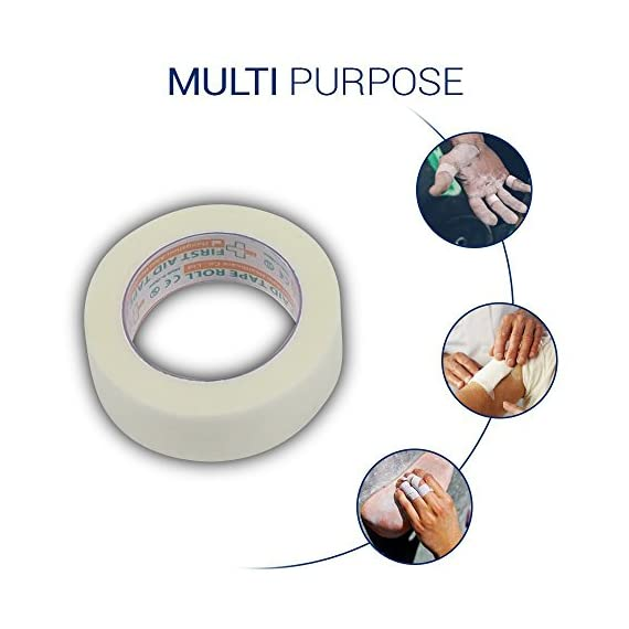 """Conforming Bandage ,4"""" x 5 Yards Stretched,24-Pack Gauze Bandage Rolls with Bonus Tape + Scissors, First Aid Supplies… 6 SET OF 24: Value pack, each roll is individually poly bagged and measures 4 inches in width and 4 yards in length when stretched. Can be used a standalone gauze roll or as a refill for your first aid kit. GAUZE ROLL, TAPE INCLUDED: These hospital-grade all-purpose premium gauze rolls are safe and trusted by professionals in the health field. Comes with tape for easy use. Perfect to care for an injury on any body part; works well on arm, leg, wrist, ankle, elbow and knee. ELASTIC AND COMFORTABLE: Easy to wrap and easy to tear, making it practical and convenient to take with you anywhere. Care for wounds as a primary or secondary dressing to ensure a swift recovery"""