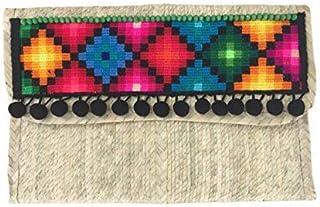 Epifanía MX   Baguette de Palma de Guerrero con bordados de Quintana Roo, Rombos Multicolor