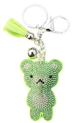 AuPra Crystal Teddy Green Bear KeyRing Gift Idea Women & Men Best Friend...