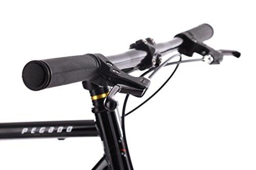 """KS Cycling Fixie Fitnessbike 28"""" Pegado schwarz-Gold RH 53 cm - 5"""