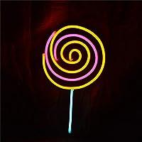 ロリポップネオンライトLED|イルミネーション ナイトライト|壁の装飾ライト|バレンタイン パーティー クリスマス 祭り 誕生日ギフト|キッズ 女の子たち|家 寝室用,A