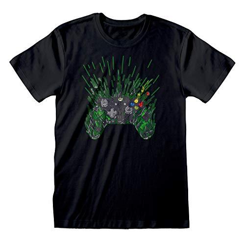 Xbox Manette T-Shirt Homme Noir 2XL   S-XXL, Xbox One X Series Gamer Cadeaux, Ras du Cou Graphic Tee, Anniversaire Idée Cadeau