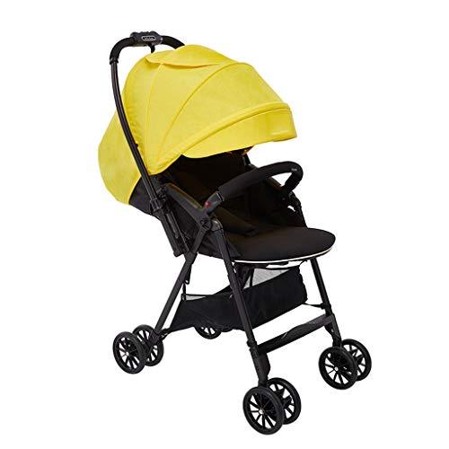 LOMJK Carritos y sillas de Paseo Cochecito de bebé Carro Cochecito de bebé Carro de bebé Plegable Cochecito Ligero Cochecito de bebé Cochecito de Dos vías Amortiguador Bebé Sillas de Paseo