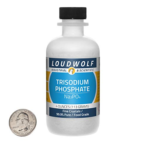 Trisodium Phosphate / 4 Ounce Bottle / 99.9% Pure Food Grade / Fine Crystals / USA