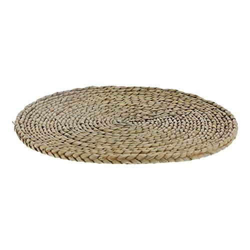 Cojín de suelo de tatami, cojín de paja para asientos de puf redondo transpirable para decoración de ventana salediza para Zen para el hogar