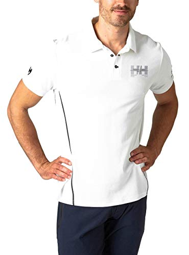 Helly Hansen HP Racing, Polo Uomo, Bianco, L