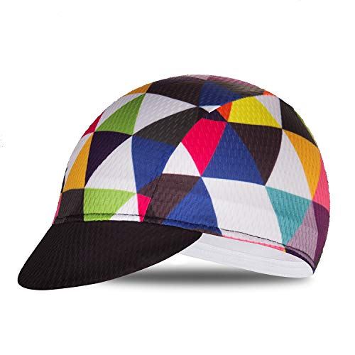 Weimostar Polyester Men Cycling Bike Bicycle Cap MTB Hat Sweat Wicking Outdoors Breathable Fits Under Helmets Multicoloured Triangle