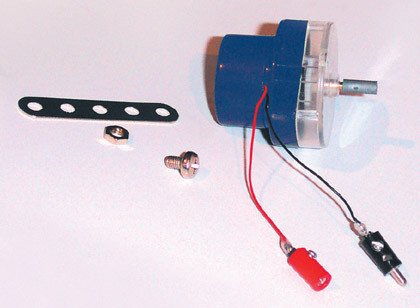 eitech 00118 - EITECH Zubehörset: Getriebemotor für Solarmodul, Flachstab zur Befestigung