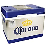 Corona Cruiser Thermoelectric Cooler - (55.4 Quarts) 24 Bottle Capacity, Corona Cooler with Bottle Opener, Citrus Knife and more