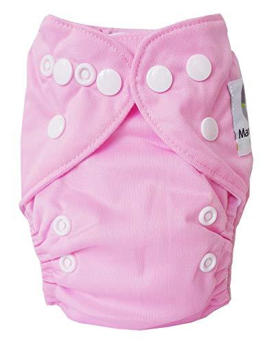 Maman et bb Nature - Couche Lavable Newborn TE1 + un insert en microfibre - Rose Bonbon