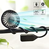 LiyuanQ Hand Free Neck Fan USB Rechargeable Portable Sport...