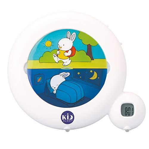 Pabobo Kid Sleep - Classic - pädagogische Wecker für Kinder Tag / Nachtlicht - Programme Morgen oder Mittags und Nachtlicht Option - weiß